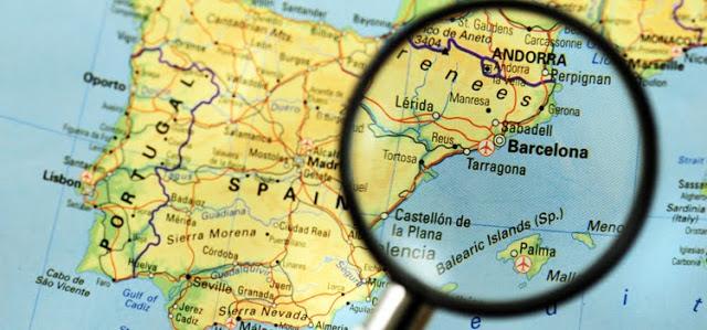 Аликанте барселона карта испании