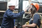 Посвящение в нефтяники  на учебном полигоне НГК