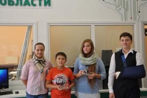 команда школьников Центра развития робототехники ТИУ