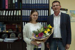 Юлия Горюшина и руководитель образовательной программы Александр Воронин