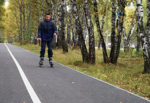 Катание на роликах в Гагаринском парке Сентябрь 2017