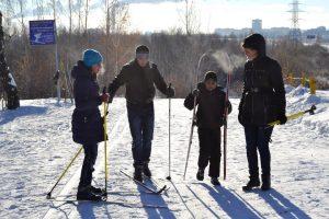 Катаемся на лыжах в Гагаринском парке Ноябрь 2016