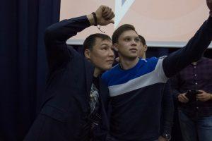 Сэлфи с чемпионом Русланом Проводниковым