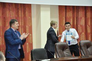 Вручение сертификатов победителям