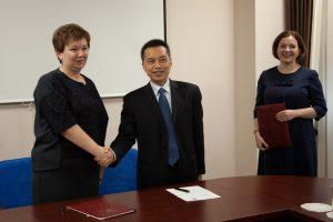 деловая встреча руководства ТИУ, университета Янцзы и Русско-Китайского фонда развития культуры, образования и науки