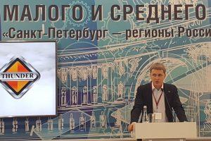 На защите научного проекта Никита Волков