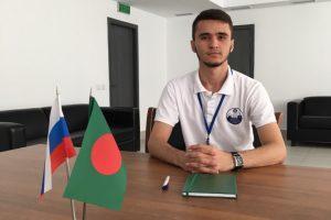 Кудратулло Хайруллоев в составе международного сводного студенческого строительного отряда «Лотос» находится в Народной Республике Бангладеш АЭС «Руппур»