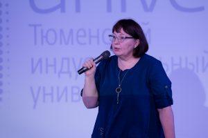 Куратор чемпионата, доцент кафедры кибернетических систем Людмила Сенкевич