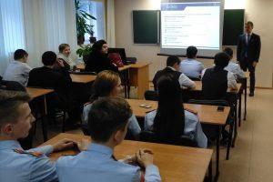 Альберт Мальшаков на встрече с ноябрьскими школьниками