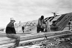 На строительстве посёлка Мортка