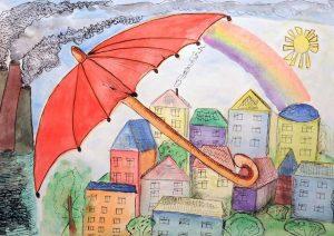 Выставка детских рисунков на экологическую тематику