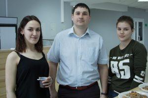 Руководитель образовательной программы по направлению Нефтегазовое дело ВИШ Руслан Галикеев и представители Профбюро ИГиН, ВИШ