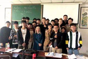 Юлия Дюпина с китайскими студентами