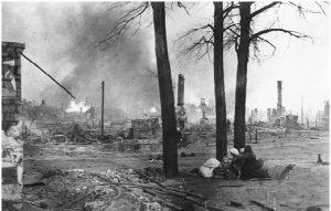 Бешенковичи (Белоруссия) во время взятия его немецкой армией