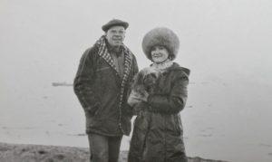 Соломакин Ю.В. с женой на м. Шмидта