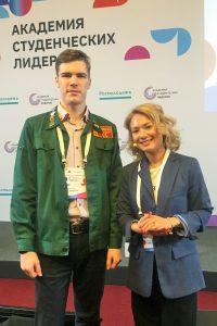 Антой Шигапов и Юлианна Плискина, которая входит в ТОП-20 лучших спикеров России 2019 года по версии портала «Национальные интересы»