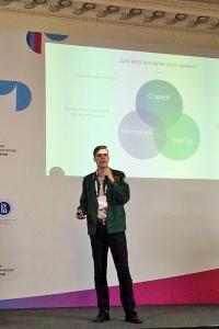 Антон Шигапов защищает проект от группы