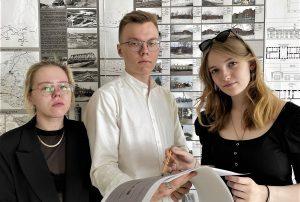 Студенты ТИУ Ирина Щеглова,  Даниил Снетков и Елена Пермякова