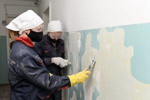 """ССО """"Мега"""" на ремонте шестого общежития ТИУ"""